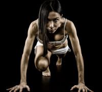 Gabriela, il fitness e le luci radenti